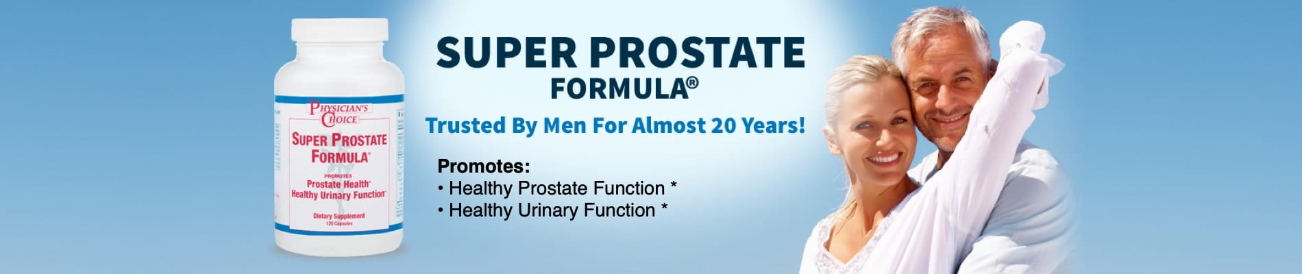 Super Prostate Formula promotes healthy prostate and urinary function